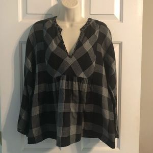 Madewell plaid blouse size Large